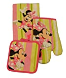 Disney 3 Piece Kitchen Set Minnie Mouse Stripes