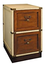 Hot Sale Campaign Files in Ivory - Filing Cabinet - Features 2 Drawers - Solid Wood Construction with Hidden Rolling Wheels and Brass Accents - Authentic Models MF038
