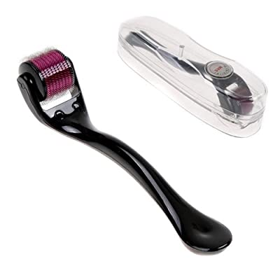 Mt Microneedle Roller 1.0mm Purple (540 Needles) Microneedle Skin Care System with Medical Grade Stainless Steel