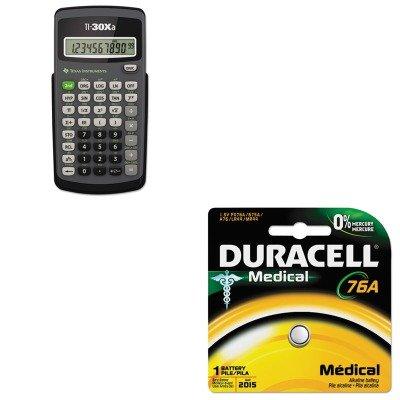 KITDURPX76A675PK09TEXTI30XA - Value Kit - Texas Instruments TI-30Xa Scientific Calculator (TEXTI30XA) and Duracell Alkaline Medical Battery (DURPX76A675PK09) (Texas Instruments Ti 30xa compare prices)
