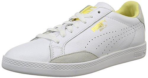 Puma Match Lo Basic Sports Wn's - Scarpe da Ginnastica Basse Donna , Bianco (Weiß (white-mellow yellow 13)), 41