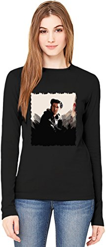 Alligatoah T-Shirt da Donna a Maniche Lunghe Long-Sleeve T-shirt For Women| 100% Premium Cotton Ultimate Comfort X-Large