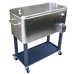 Target Stainless Steel Garage Amp Patio Beverage Cooler Cart