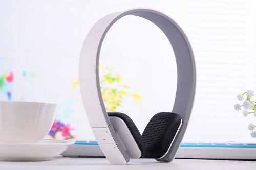 Wireless Bluetooth Stereo Headset Headphone For Mobile Cellphone Laptop Pc Tablet (White)