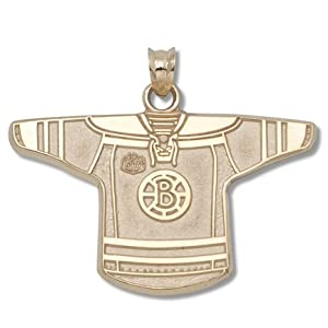 NHL Boston Bruins B NHL Winter Classic Jersey Pendant - Gold Plated