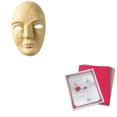 Kitckc4190Pac103637 - Value Kit - Creativity Street Paper Mache Mask Kit (Ckc4190) And Pacon Riverside Construction Paper (Pac103637)