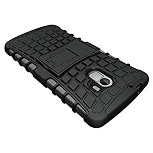 Saihan Tough Dual Layer Armour Kick Stand Case Cover for Lenovo Vibe K4note Black Colour