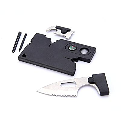 Trait-Tech 9 in1 Pocket Multi Tool Credit Card Tool Knife Size Pocket Rescue Tools for Hunting Survival Camping from Trait-Tech