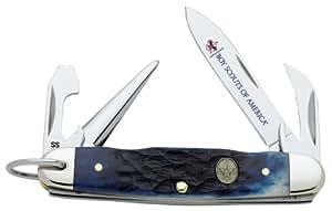 Case Cutlery 08055 Case Boy Scouts of America Jr. Scout Navy Blue Bone