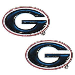 College Studded Earrings - Georgia Bulldogs College Studded Earrings - Georgia Bulldogs