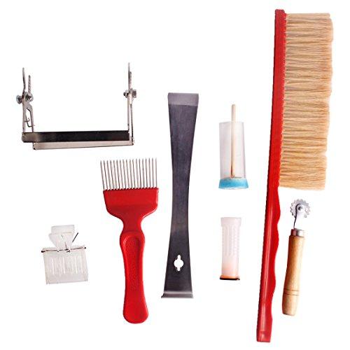 Andux-8pcs-set-Anlagen-fr-die-Bienenzucht-Imker-Tools-Kit-Entdecklungsgabel-Gabel-Biene-Pinsel-Knigin-Rohr-Knigin-Catcher-Hive-Werkzeug-Rahmen-Grip-Spur-Drahtrad-Embedder-Knigin-Kennzeichnung-Cage-mit