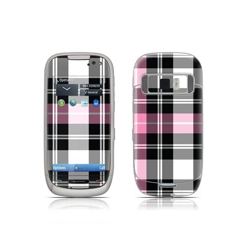 Pink Plaid Design Protective Skin Decal Sticker for Nokia