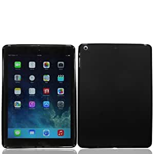 iPad Air Case, iPad Air cases - iPad 5 (2013) Case Retina Soft Skin For The New iPad Air - Retail Packaging - Jelly TPU Shell - iPad Air - Shell - Skin Cover By Cable and Case - Black iPad Air Case