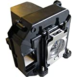 Replacement Lamp for EPSON ELPLP68 - EPSON EH-TW5810C, EH-TW5900, EH-TW6000, EH-TW6000W, EH-TW6510C, EH-TW6515C, POWERLITE HOME CINEMA 3010, POWERLITE HOME CINEMA 3010E, POWERLITE HOME CINEMA 3020E, TW5900, TW6000, V11H421020, V11H450020