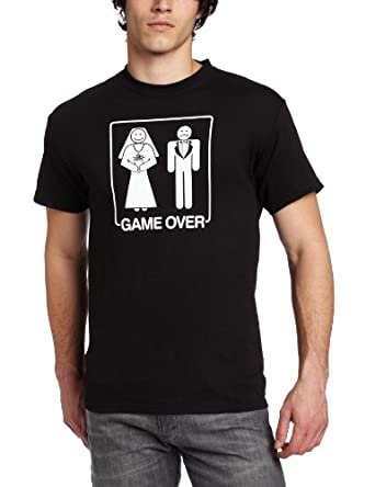 T-Line Men's Humor Game Over Tee, Black, X-Large