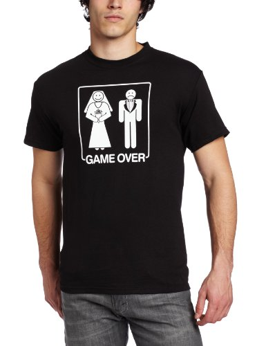T-Line Men's Humor Game Over Tee, Black, Small
