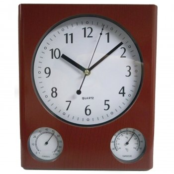Fineline 00660 3 In 1 Weather Station Wall Clock