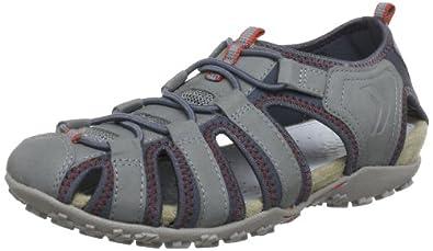 Geox  DONNA ART. D7125U, sandales femme - Gris - Gris - Grau (GREY C1006), 39 EU
