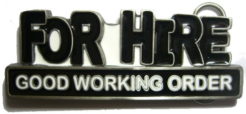 FOR HIRE BELT BUCKLE + display stand