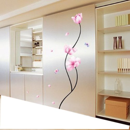 H.H.H Pvc Dandelion/Peach Blossom/Cherry Tree Wall Sticker/Decals/Decor Wallpaper Wall Art Mural Art Decor,Add A Festive Life And Personality To Any Space! (#2)