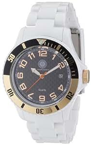 Constantin Durmont Damen-Armbanduhr Nice Analog Plastik CD-NICL-QZ-RBWH-PCRG-BK