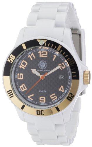 Constantin Durmont - Reloj analógico para mujer de plástico negro
