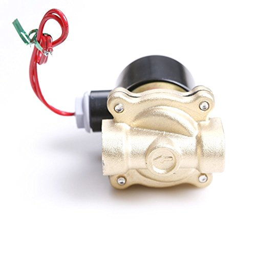 """Toolmall 1/2"""" Electric Solenoid Valve Water Air Fuels N/C Gas Water Air front-168476"""