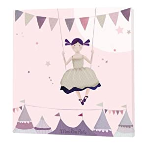 Moulin roty tableau rose aim et c leste 30x 30xcm - Tableau moulin roty ...
