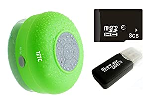 Waterproof Wireless Bluetooth Shower Speaker Handsfree Speakerphone Compatible with All Bluetooth Devices Iphone 8s and All Android Devices from TETC