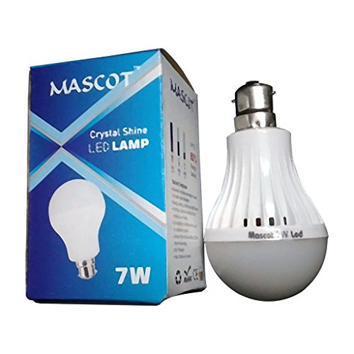 Mascot 7W B22 LED Bulb (White, Pack Of 7)