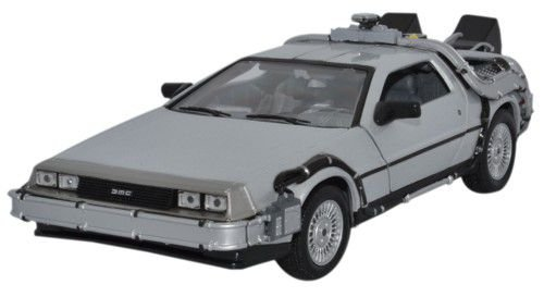 Welly 1/24 Scale Diecast Metal Delorean TimeMachine Back to the Future Part I (Model Time Machine compare prices)