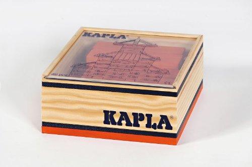 KAPLA 6506 Holzplättchen, 40 Steine, orange