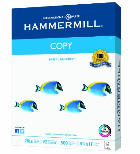 Hammermill Copy Paper, 20lb, 8-1/2 x 1 , 92 Bright, 400 Sheets/1 Ream (150200R)