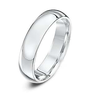 Theia Palladium 950 Super Heavy - Court shape 5mm Wedding Ring - Size R