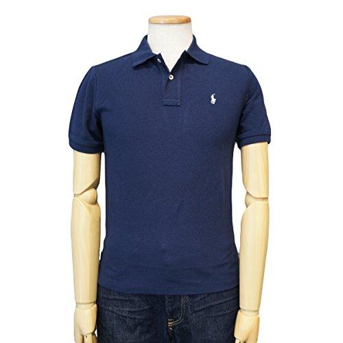 (ポロ ラルフローレン)POLO Ralph Lauren ポロシャツ 半袖 ポニー ワンポイント 鹿の子 カノコ BOYSサイズ ネイビー×ホワイト XL(18-20) [並行輸入品]