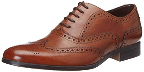 ClarksBanfield Limit - Scarpe stringate uomo, Marrone (Marrone (Tan Leather)), 43 EU