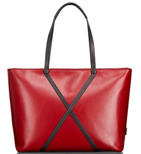 Tumi Santa Monica Sycamore Leather Tote Handbag (Crimson)