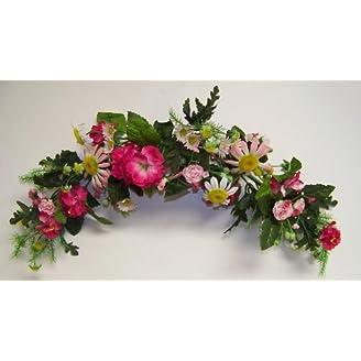 Arch Pink Doorway Artificial Flower Wreath Wall Art Door