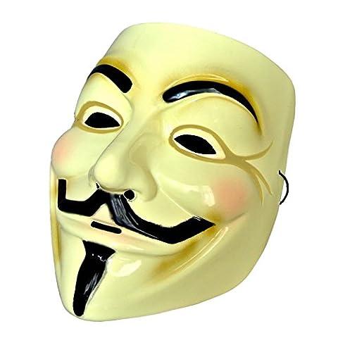 ガイ・フォークス 仮面(アノニマスのマスク)肉厚タイプ 0.5mm厚PVC製 MM-GFMASK01