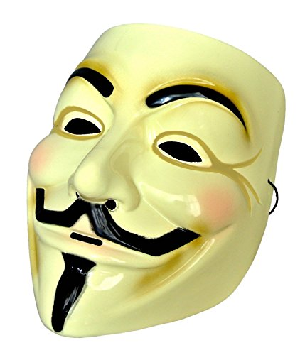 Guy / Fawkes mask (mask of Alcoholics Anonymous) type of wall thickness 0.5 mm thick PVC MM-GFMASK01