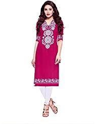Crepe Pink Printed Unstitch Kurtis For Women