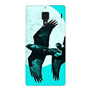 Enticing Raven Cyan Back Case Cover for Redmi 1S