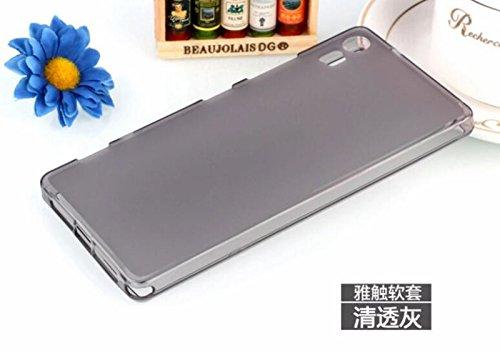 BEST DEALS Best Deals Premium Silicon Soft Back Case Cover for Lenovo Vibe Shot DarkGrey