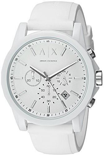 mens white watch sport watches chronograph armani was emporio