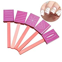 5pcs 3D Magnetic Polish Sticky Rubber Magnet Plate Nail Tools