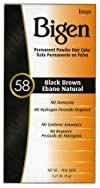 #58 Black Brown Permanent Hair Color