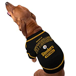 Pittsburgh Steelers Black Property Of Dog T-Shirt by Football Fanatics