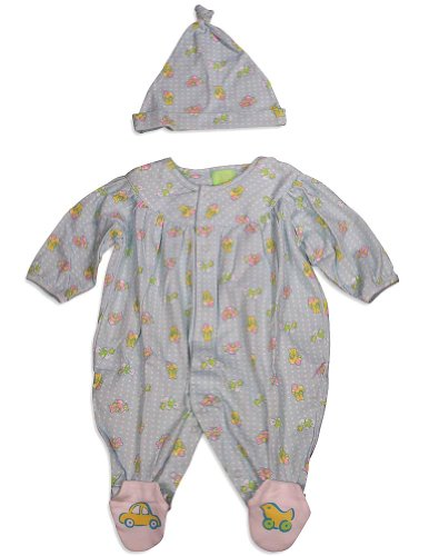 Snopea - Newborn Girls Long Sleeve Teddyland Jumpsuit Coverall, Mint 29273-9Months front-487936