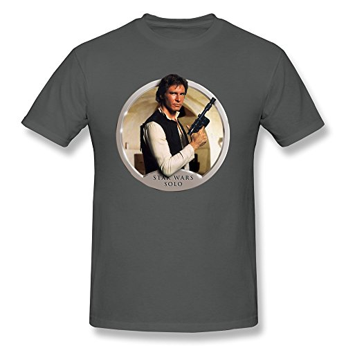 Jiaso Men's Funny The Star Wars Han Solo T-shirt DeepHeather Small