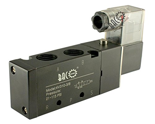 """BACOENG DC12V BSP 2 Postion 5 Wege 3/8"""" Pneumatik Mechanische Ventil Luft Magnetventil( 1/8"""" 1/2"""" 1/4"""" )"""